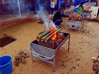里山生活体験「竹飯をつくろう」
