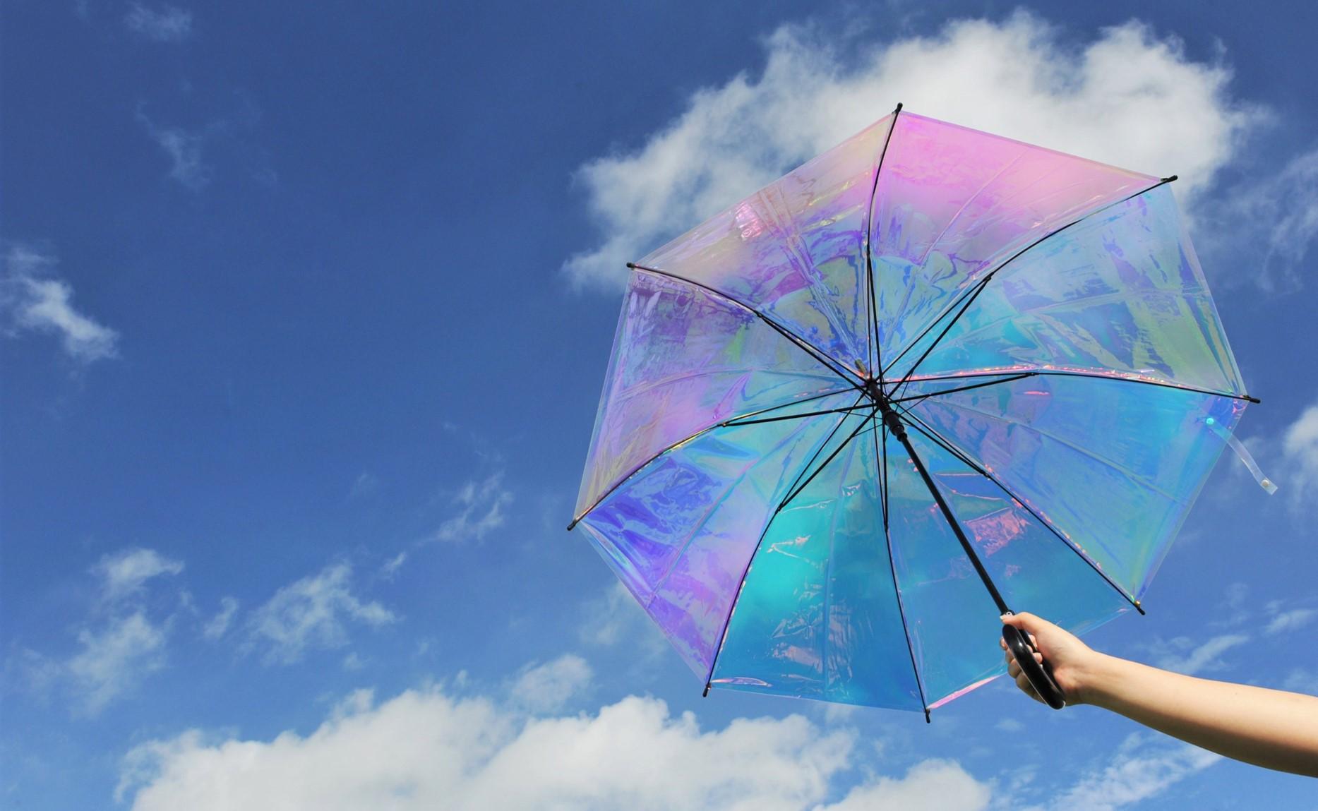 """傘れんたる """"オーロラ傘"""""""