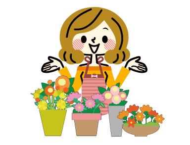 公園の小さなお花屋さん